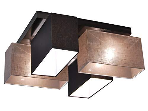 Deckenlampe - HausLeuchten JLS4126D, Deckenleuchte, Leuchte, Lampe, 4-flammig, Massivholz, Kinderzimmer, Wohnzimmer, Schlafzimmer, Küche, Lampe, LED-geeignet