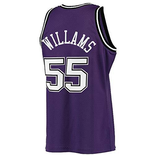 Men's Williams Jersey Basketball 55 Jerseys White Chocolate Jason Jersey Purple(S-XXL) (M)