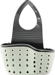 SKEIDO Kitchen Sink Shelf Soap Sponge Drain Rack Holder Double Decker Hanging Basket Storage Suction Cup Kitchen Organizer...