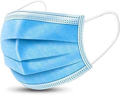 XGEEK Einweg OP-Maske Gesichtsmaske 3-lagig Mundschutz Staubschutz Infektionsschutz Schutzmaske Atemschutzmaske mit Ohrschlaufen schützt vor Verschmutzungen (Blau) (20PCS)
