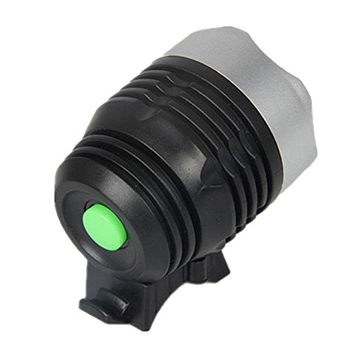 Lecimo Luz de Bicicleta Q5 de Interfaz Negra, Dos Baterías de 2032 Botones, 3 Opciones de Modo de Luz, Adecuadas para La Caza y La Pesca