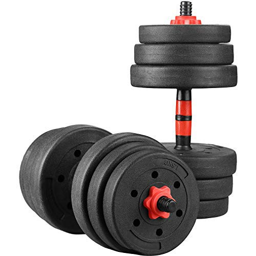 Wesfital Exercise Dumbbell Sets Adjustable Weight 22/33/44/55/66/88LBS Strength Training Barbell for Home Gym