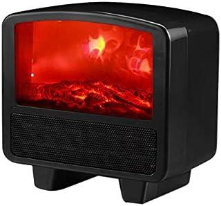 SODIAL Calentador de Llama EléCtrico Calentador de Aire PTC CeráMica Estufa de CalefaccióN Radiador Ventilador PráCtico para el Hogar para Oficina en Casa Enchufe de la UE Negro