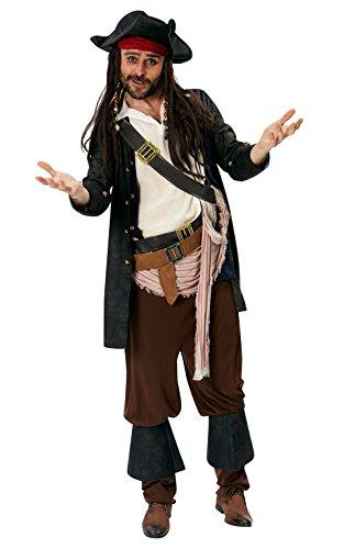 Rubies 's oficial de Disney Jack Sparrow disfraz de–de piratas del Caribe para adulto–XL