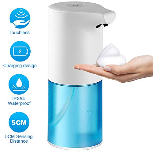 Soap Dispenser, ArgoHome Touchless Automatic Soap Dispenser, Infrared Motion Sensor Dish Liquid Hands-Free Auto Soap Dispenser, Upgraded Waterproof Base