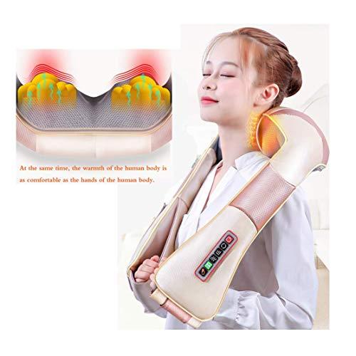 Preisvergleich Produktbild Nacken- Und Rückenmassagegerät Elektrisches Rücken- Und Schultermassagegerät 3 Tasten Zum Einstellen Der 4d-Massage Hautpu-Leder Infrarothals Beine Schultern Rücken Füße Heiße Kompresse