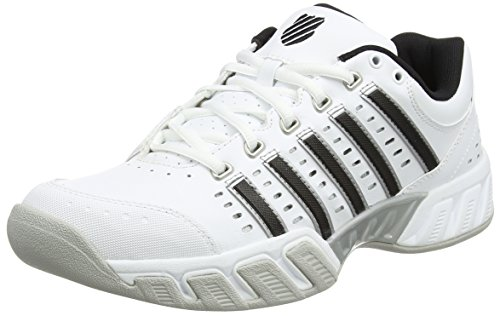 K-Swiss Performance Herren Bigshot Light LTR Carpet Tennisschuhe, Weiß (White/Black/Silver), 45 EU