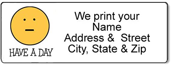 Have A Day! Face Address Label - Customized Return Address Label - 90 Labels