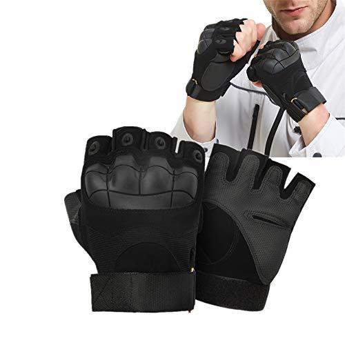 WESEEDOO Kickboxen Handschuh Box Handschuh Boxhandschuhe für Erwachsene Halbfinger-Boxtrainingshandschuhe Boxhandschuhe für Kampfkünste Boxsackhandschuhe a-Black,m