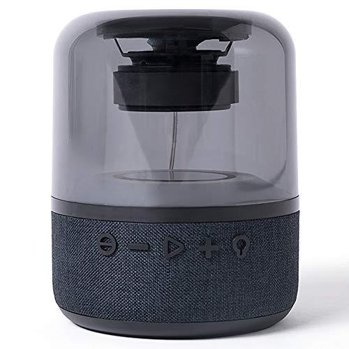 AMAZOM Mini, Super-Tragbarer Bluetooth-Lautsprecher Mit 3-6 Stunden Spielzeit, LED-Licht, Verbessertem Bass, Geräuschunterdrückendem Mikrofon - Schwarz