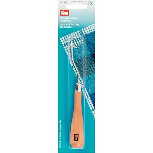 UNCINETTO uncinetti Prym per Smirne lana fine curvo con manico in legno 611866