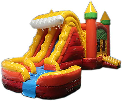 For Sale! Commercial Grade 29 Foot Orange, Yellow & Red Helix Wet/Dry Combo Bounce House Inflatable