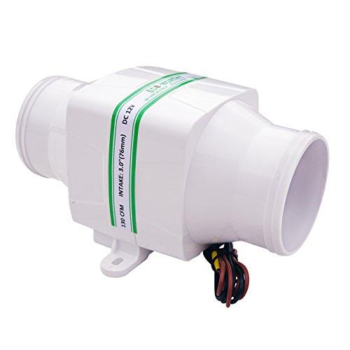 DCHOUSE 130 CFM, 12 V, 3 pulgadas, manguera para soplador de aire marino para barcos y autocaravanas