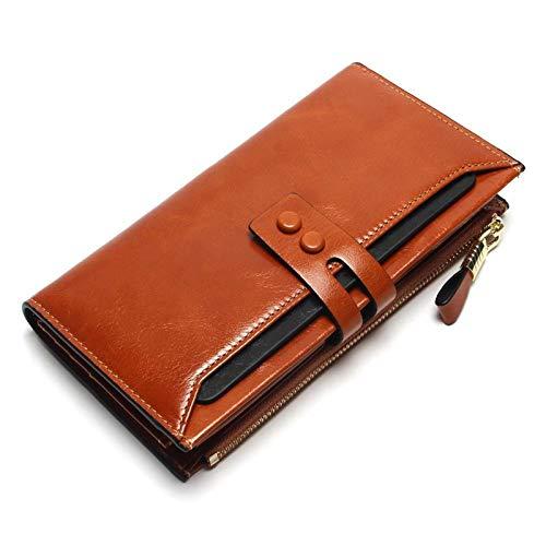 Damen Leder Hohe Qualität Lang Design Brieftasche, Tragbare Große Kapazität Brieftasche, Kratzfest Und Langlebig,...