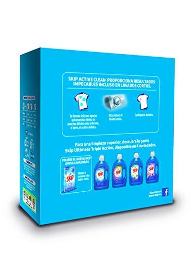 Skip Active Clean Detergente Polvo para Lavadora, 37 Lavados – 2220 gr