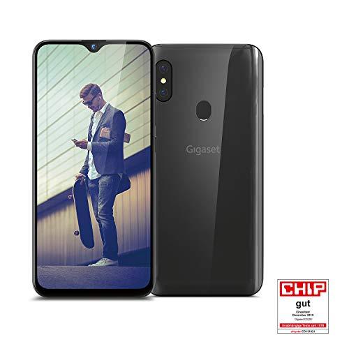Gigaset GS290 Allro&er Smartphone (16 cm (6,3 Zoll) V-Notch Bildschirm, 4GB RAM, 64GB Speicher, Android 9.0 Pie, ohne Vertrag mit Clearcover zum Schutz) titanium grey