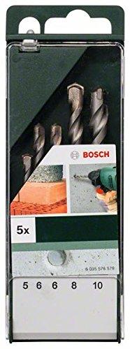 Bosch 2609255417 Set de 5 forets à béton ISO 5468 Diamètres 5/6/8/10