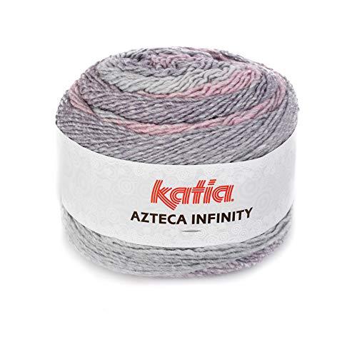 Katia Azteca Infinity - Farbe: Rosa/Lila/Perla (502) - 150 g/ca. 480 m Wolle