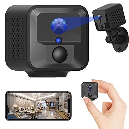 Mini Spy Camera, WiFi Wireless Hidden Camera Spy Cameras with Audio and Video Live Feed, Small Camera Spy Cam Nanny Cam, 2600 mAh Battery/ HD 1080P/...