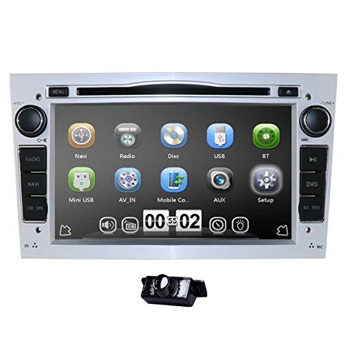 Radio para coche de 7 pulgadas, estéreo, doble DIN en Dash, para Opel Corsa Vectra Astra, 7 colores, control del volante, navegador GPS, reproductor de DVD, Bluetooth, SD USB Free 8 G