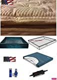 King Softsided Waterbed Mattress with Bamboo Pillowtop & 99 Percent Waveless Support