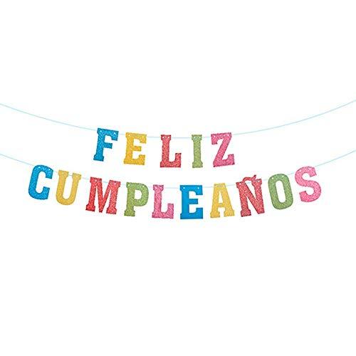 Unishop Guirnalda de Feliz Cumpleaños Multicolor, Decoración de Fiesta de Cumpleaños de Colores