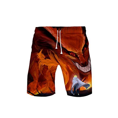 Unisex Hombres Mujeres Anime Beach Shorts Casual Street Wear Shorts Impreso Sports Swimwear Pants Board Shorts Naruto 3D-S