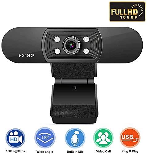 AMzon Webcam HD 1080P, Webcam USB Full HD pour appels...