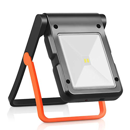 Neporal Portable LED Work Light Solar and USB Rechargeable with 2 Brightness Modes 360