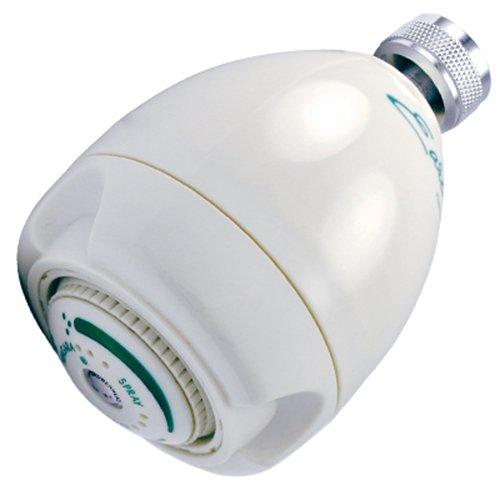 Niagara Conservation High Efficiency 2.0 GPM Earth Spa 3-Spray Showerhead in White, N2920 Fixed Shower Head