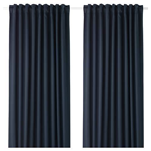 IKEA MAJGULL Verdunkelungsvorhänge, 1 Paar, dunkelblau