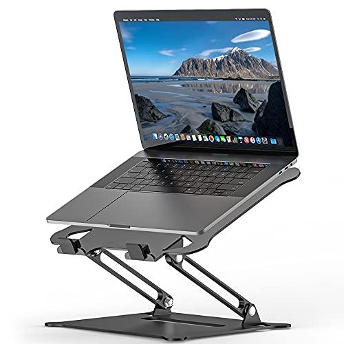 Supporto PC Portatile, Multi-Angolo Regolabile Ergonomico in Alluminio Supporto per Laptop, Compatibile MacBook Air/Pro, Dell, HP, Lenovo