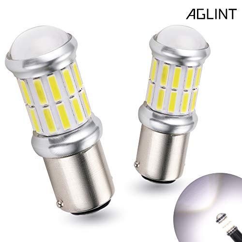 AGLINT 1157 LED Bombillas 27SMD P21/5W BAY15D 12V 24V Para Motos Coches La Luz De Freno Luz de Estacionamiento De Cola Luz Blanca 6500K