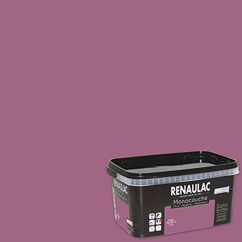 Renaulac Peinture monocouche multisupports Violet Zinzolin Satin 2,5L - 25m²