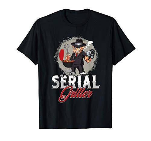 Seriengriller Grillmeister Grillkönig Grillchef BBQ Geschenk T-Shirt