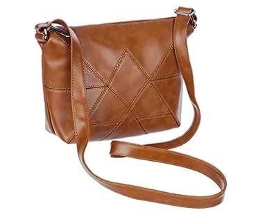 Leather Land Girls' Sling Bag (`_Tan)