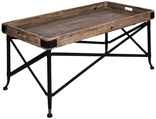 Better & Best Table Plateau Rectangulaire, Petite, avec Pieds, en Bois, Noir, 51 x 33 x 62 cm