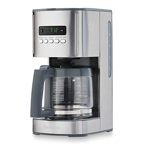 Kenmore 00840706 12-Cup Programmable Aroma Control Coffee Maker, 6.34, Stainless Steel