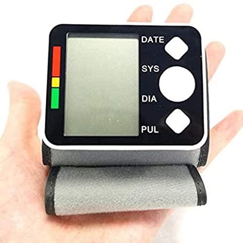 Blutdruckmessgerät, Handgelenk-Blutdruckmessgerät, genaue automatische große LCD-Anzeige einstellbares Handgelenkmanschette Automatisch genau für Blutdruck und Herzschlag
