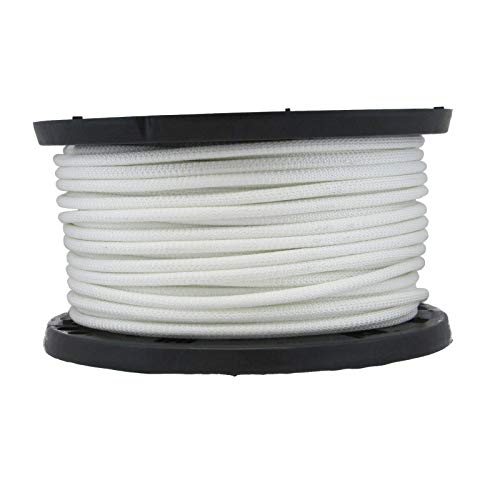 5/16 inch Wire Center Flagpole Rope with Polyester Jacket - 100 Foot Spool | Industrial Grade - High UV and Abrasion Resistance - Tamper Resistant