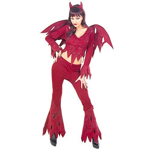Widmann ROWDY DEVIL COSTUME (M) (shirt pants wings horns)