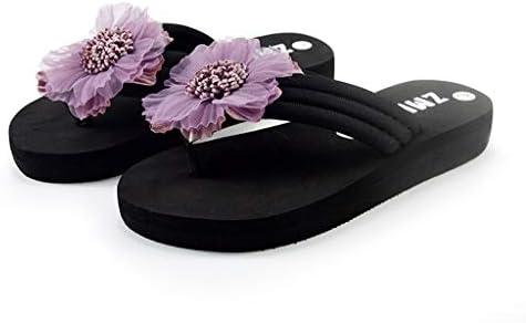Sandalias Mujer Verano 2019, Lanskirt Mujeres Zapatos Otoño Flores Zapatillas casa Dama Sandalias Plataformas Nina Zapato Plataforma Inicio Playa Chanclas Planas niña