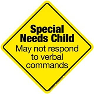 special needs child on board decal