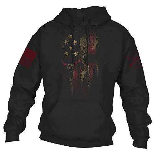 Grunt Style American Reaper 2.0 Men's Hoodie, Color Black, Size Large