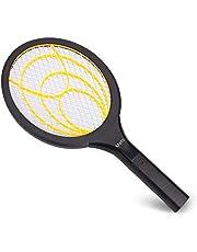 mafiti Elektrische vliegenmepper, insectenverdelger met uitneembare batterijen, insectenmoordenaar, vrij van giftige stoffen en geurtjes, ideaal voor binnen en buiten, geel zwart