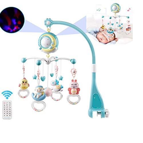 SayHia Baby Mobile para cunas con música, cuna móvil con luz nocturna y proyector, Crib Music Mobile Bell 360 ° rotación Toy(Azul)