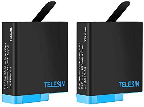 TELESIN Reemplazo batería 2 - Fuente de alimentación para GoPro Hero5 Negro, Pilas Recargables actualización de para la última v02.51 y Versiones inférieures (2 Batteries)
