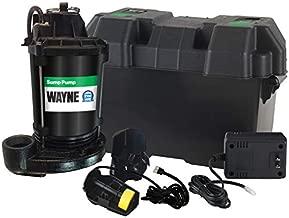 Wayne ESP25 Upgraded 12-Volt Battery Backup System, Black