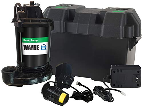 Wayne ESP25 Upgraded 12-Volt Battery Backup System, Black