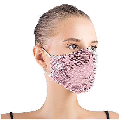 Zldhxyf Masquerade - Máscara facial con purpurina para mujer, máscara de lentejuelas de cristal, lavable y reutilizable, para fiesta de noche o Halloween, I, M